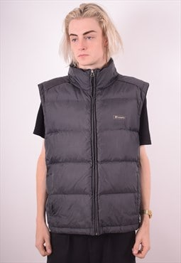 Champion Mens Vintage Padded Gilet XL Black 90s