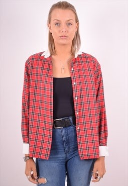 Cacharel Womens Vintage Shirt Medium Red Check 90s
