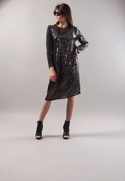 Evening Dress Sequin Dress Glittering Gown Midi dress F1740
