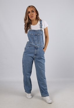 Vintage Denim Dungarees GAP Wide Leg UK 8 XS (B3L)