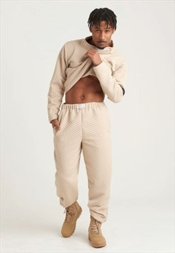 Cream Quilted Trouser