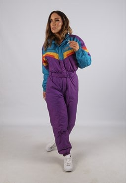 Vintage SHIBUYA Full Ski Suit Snow Sports UK S 10  (J3U)