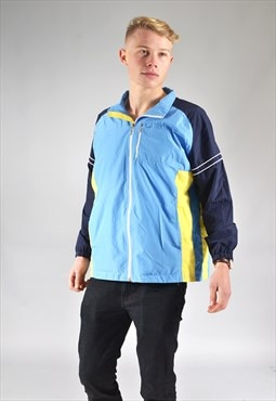 Vintage Blue & Yellow Track Top Jacket