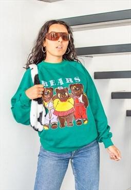 Vintage 90s Bears Animal Printed Sweatshirt