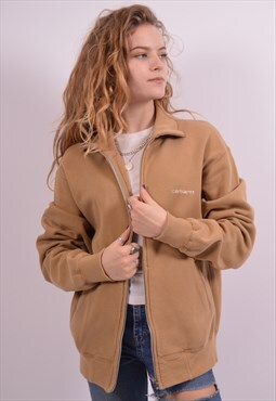 Carhartt Womens Vintage Tracksuit Top Jacket Large Khaki 90s