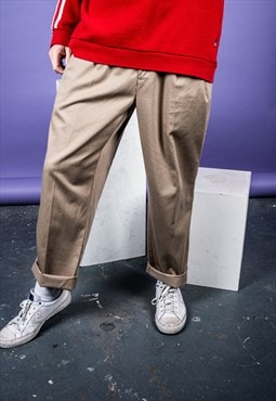 Vintage 80s Trousers in Beige