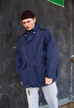 Blue Ralph Lauren Mack/Trench Coat Nautical Outfitter.