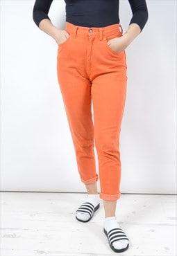 Moschino Womens Vintage Jeans W27 L27 Orange 90s