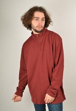 Vintage 1/4 Zip 80's Sweatshirt in Maroon