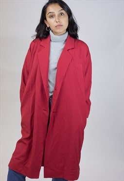 Vintage 90's Red Long Jacket