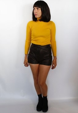Vintage 1990's high waisted leather shorts
