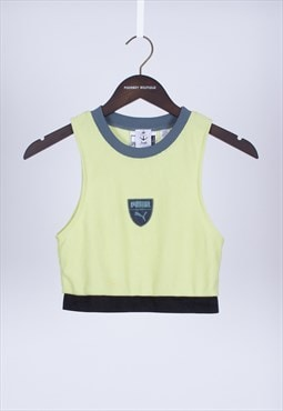 Remade 90s Neon Green Crop Top Puma