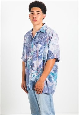 Vintage 80s Hawaiian Short Sleeve Shirt / S3182