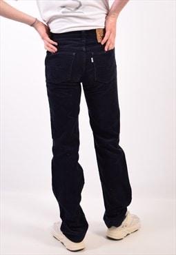 Vintage Levi's 63 Corduroy Trousers Navy Blue
