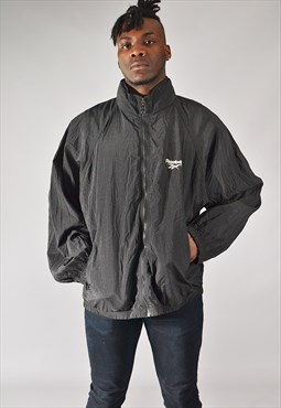 Vintage Reebok Windbreaker Jacket Black