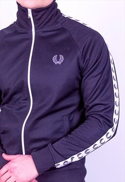 Vintage Fred Perry Track Jacket in Black Small
