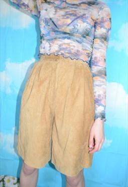 Vintage 80's Tan Suede Culottes