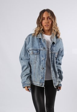 Denim Jacket PIONEER Oversized Fitted UK 16 - 18 (K6BZ)