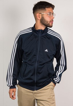 Adidas Navy Blue Tracksuit Jacket Top
