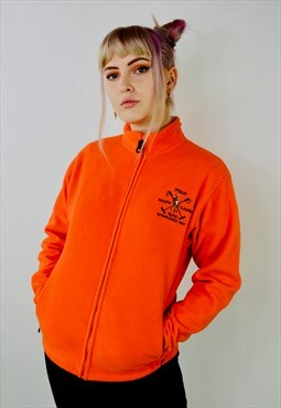 Vintage Ralph Lauren Polo Orange Fleece Jacket