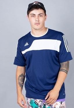 Blue Adidas Football Shirt