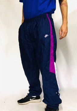 vintage NIKE tracksuit pants shell suit bottoms rave XL 90s
