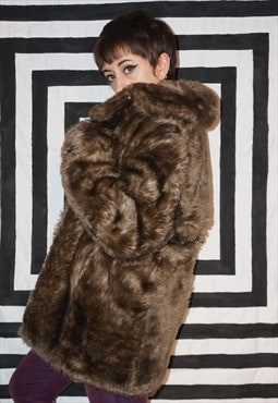 Vintage 60s Faux Fur Coat