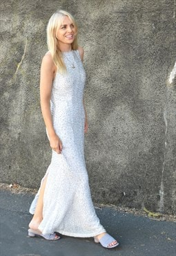 Vintage Beaded Lillie Rubin Gatsby Prom Wedding Dress