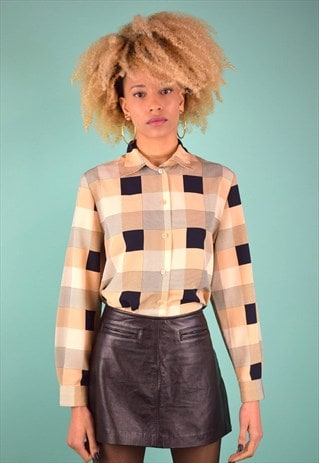 VINTAGE 90'S CHECKED BLOUSE