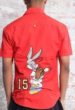 Vintage Castelbajac Bugs Bunny Short Sleeve Shirt Red