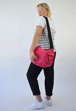 Vintage Eastpak Shoulder Strap Bag in pink