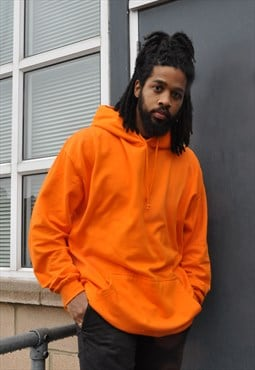 Prison Orange Oversized Cotton Ringspun Hoodie Jumper