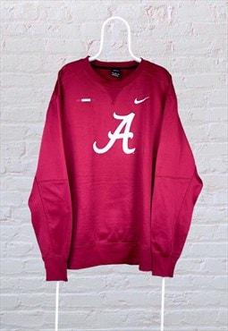 Vintage Nike Sweatshirt Alabama Crimson Red XXXL