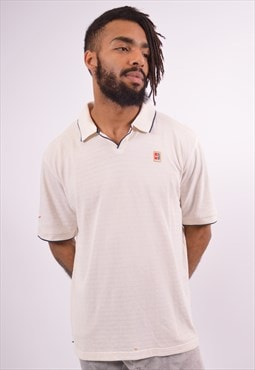 Nike Mens Vintage Polo Shirt Medium White 90s