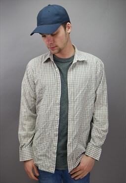 Vintage GAP Checkered Shirt in Beige & White
