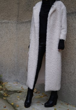 Fluffy Cardigan Draped Long-line Long Sleeve Oversized F1529