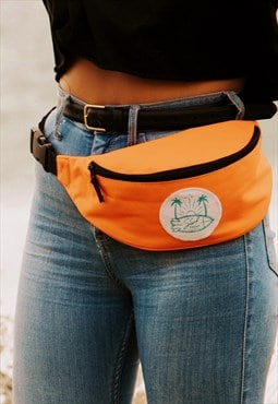 Bumbag festival orange across body belt bag Surf Squad print
