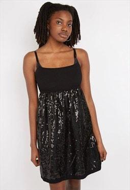 Vintage Black Sequin Dress