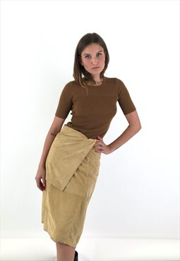 Vintage Gianfranco Ferre 1980s Suede Pencil Skirt