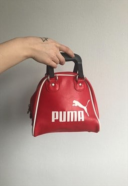 Y2K Vintage Mini Puma Hand Bag with Big Spell Out Logo.