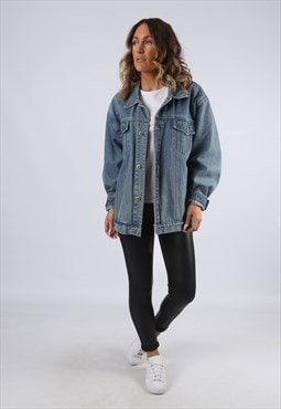 Denim Jacket Oversized Fitted Vintage UK 18 (G95A)