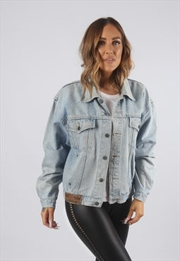 Vintage Denim Jacket Oversized Fitted UK 12  (91E)