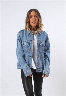 LEE Denim Jacket Oversized Fitted Vintage UK 12 - 14 (GF4O)
