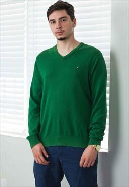 Vintage Tommy Hilfiger Jumper Sweater Logo 90s X 11.3
