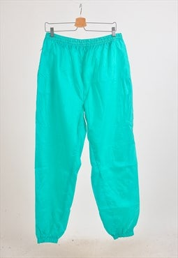Vintage 90s shell joggers in green