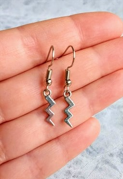 Mini Lightning Bolt Drop Earrings