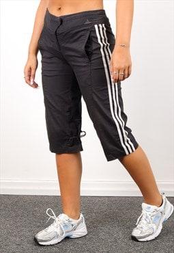 Vintage Adidas Capri Tracksuit Bottoms in  Black