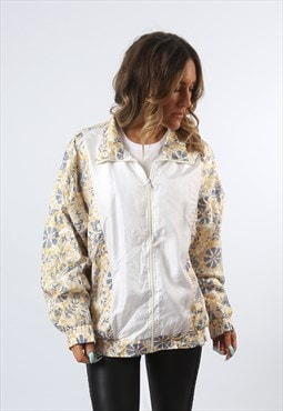 Shell Bomber Jacket Oversized Print Patterned UK 14 16 (HH1P