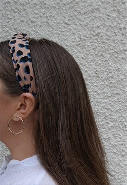 Pink, Black and Blue Animal Print Headband