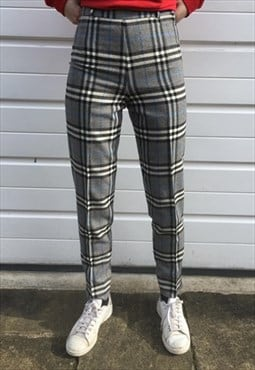 Womens Burberry trousers high waisted nova check pants